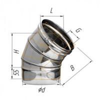 Corax Отвод угол 135° (430/0.5 мм) ?80 мм