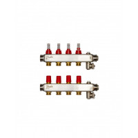 Danfoss коллектор из нержавеющей SSM-F стали с расходомерами, 4 контура