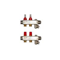Danfoss коллектор из нержавеющей SSM-F стали с расходомерами, 2 контура